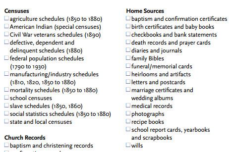 Genealogy Toolkit: Cheat Sheets from Family Tree Magazine