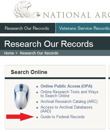 Step 1: www.archives.gov