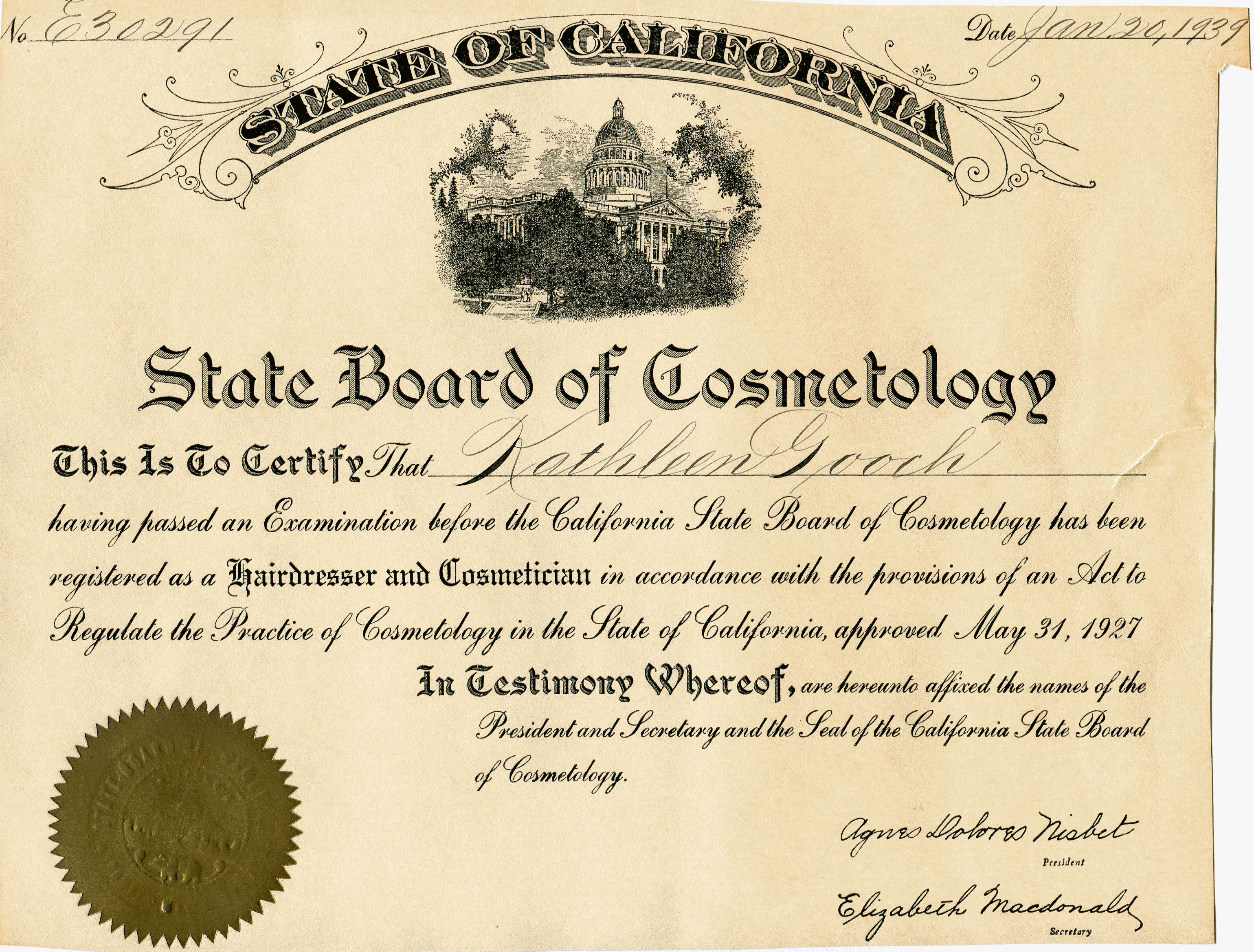 cosmetology certificate template beauty school on granny 39 s trail