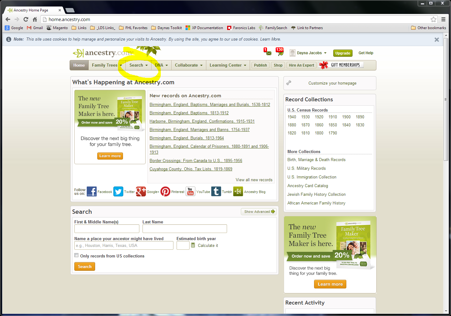 Ancestry Search Tip (You're welcome) – On Granny's Trail