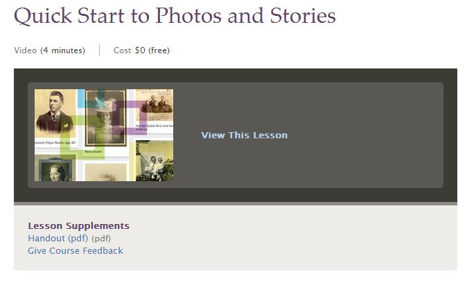 Quick Start to photos and stories