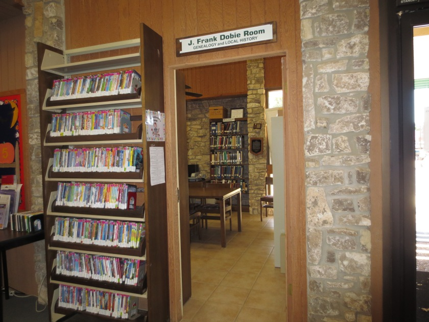Burnet County Herman Lee Library Genealogy and Local History Room