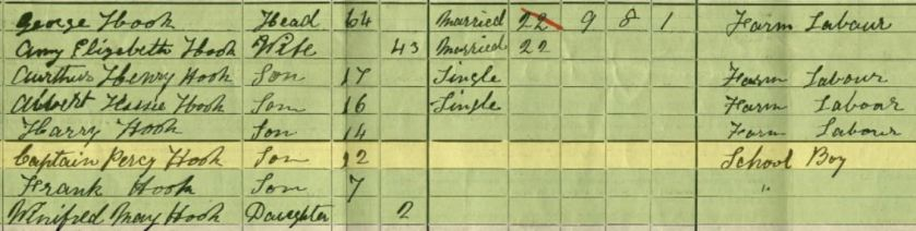 Captain Hook 1911 England Census Brenchley-Kent-England - Copy