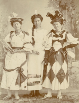 Sophia Isadora Morris (center) and friends
