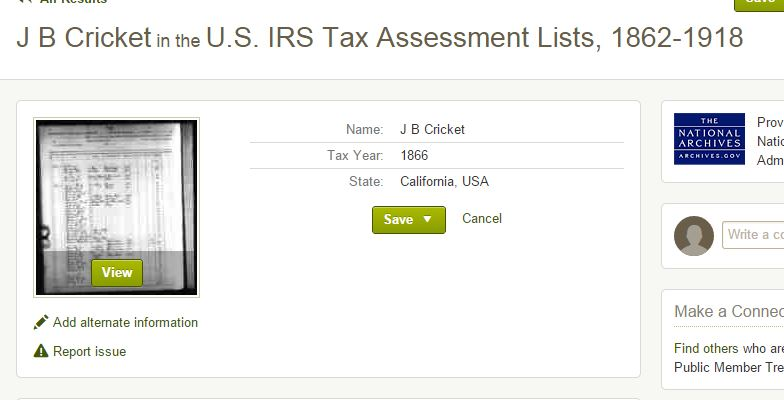 J Cricket taxes index