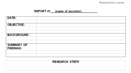 Research Report Template part one On Grannys Trail