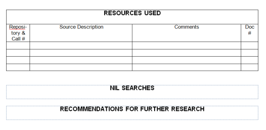 Research Report Template part two On Grannys Trail