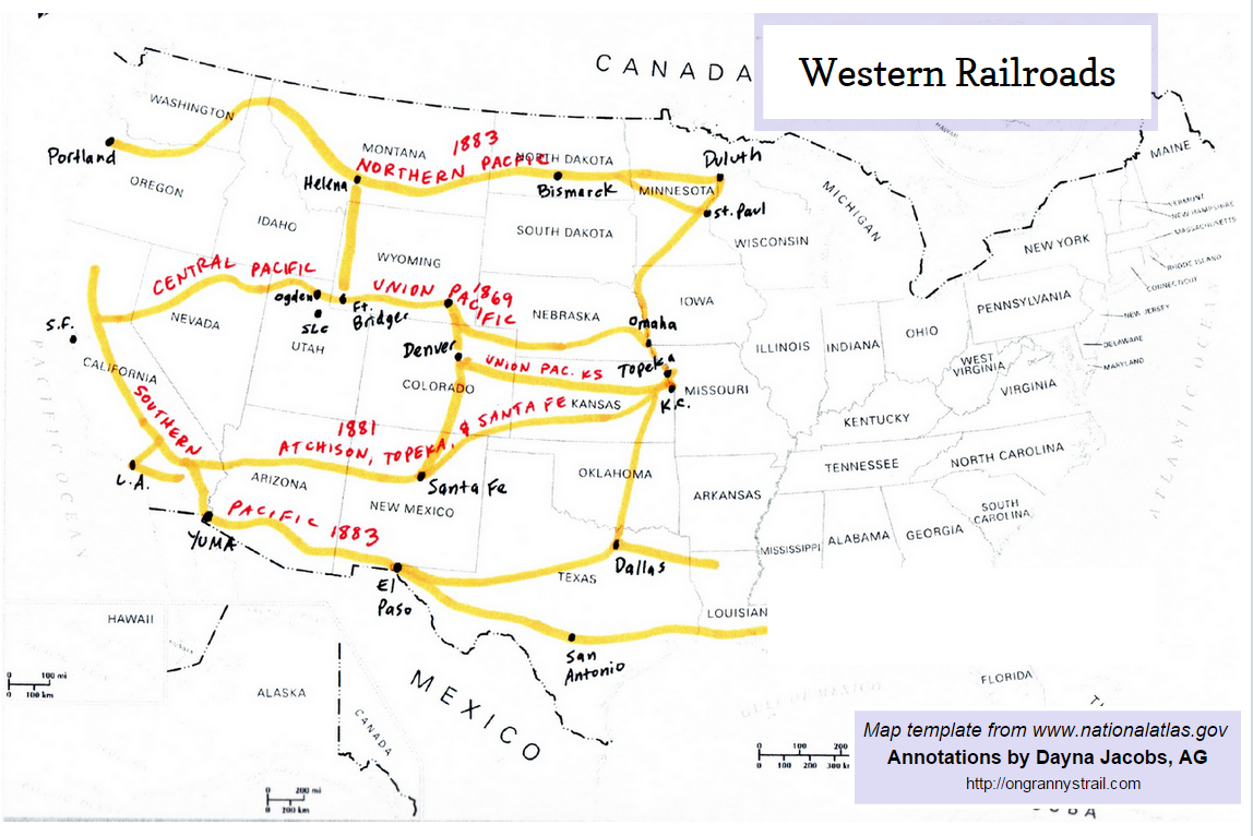 Railroad Maps On Grannys Trail - Us railroad map 2015