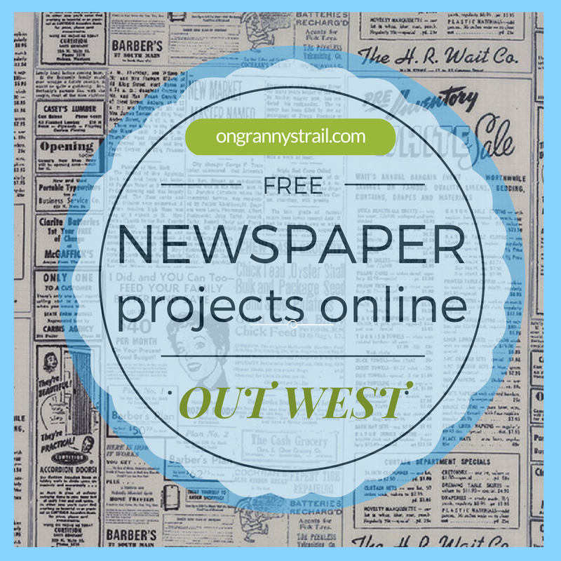 Free newspaper projects online Out West3